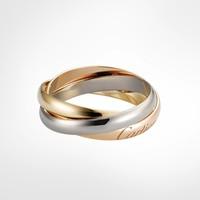 双11预售:Cartier 卡地亚 Trinity系列 B4086100 女式三色金戒指