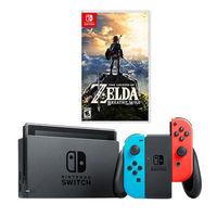 Nintendo 任天堂 Switch国行续航加强版 游戏机 + 《塞尔达》或《宝可梦》
