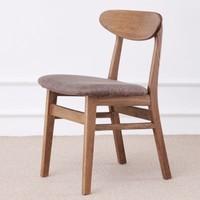 6日0点:原始原素 CY-HD1517-胡桃色  北欧实木软包餐椅 480*480*770mm