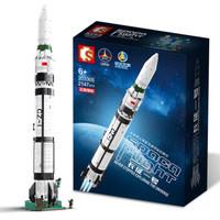 SEMBO BLOCK 森宝积木 航天系列 203305 长征一号飞船模型