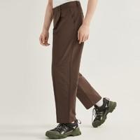 GXG GB102021C 复古咖色男士休闲长裤
