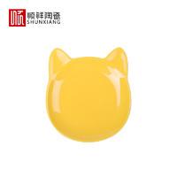 顺祥 陶瓷旺旺黄釉碗碟 4.7英寸 2个装