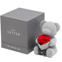 520告白季:Love Letter 玫瑰永生花熊
