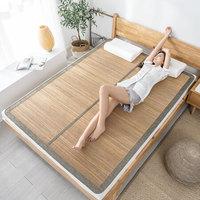 京造 折叠式镜面竹凉席 1.5m床