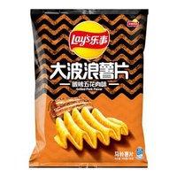 乐事休闲零食 大波浪薯片碳烤五花肉味 135g