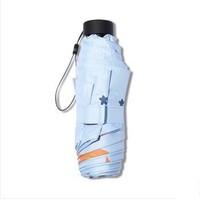 移动端:天堂伞 黑胶五折口袋伞 90cm