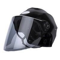 QINQ 001 摩托车头盔 ABS材质 半盔 茶色镜片