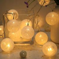钱康 棉线球小彩灯 温馨暖 2m 10灯