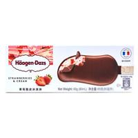 京东PLUS会员:Häagen·Dazs 哈根达斯 草莓口味脆皮冰淇淋 69g *6件