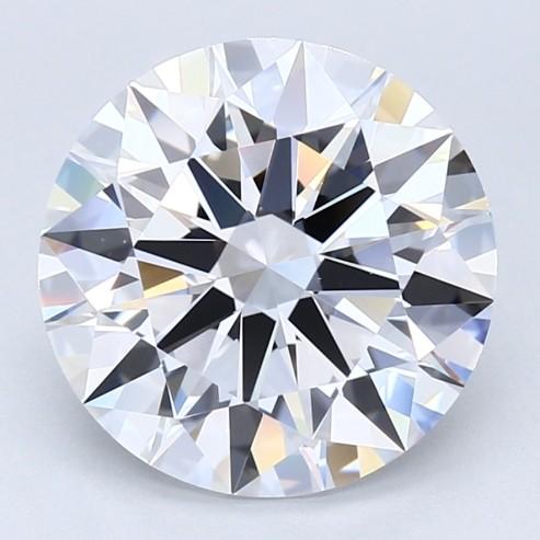 Blue Nile 5.02克拉圆形切割钻石(切工EX,成色F,净度VVS2)