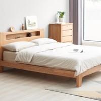 61预售:YESWOOD 源氏木语 Y90B13 橡木低铺夜光床 1.2米床