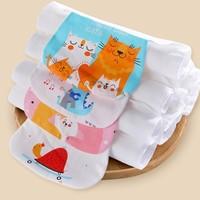 习尚 AG088 婴儿纯棉吸汗巾 4层小码 5条装