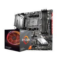 AMD R7-3700X 盒装CPU处理器 + MSI 微星 B450M MAX 主板 板U套装