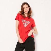 GUESS 盖尔斯 女士三角LOGO短袖T恤