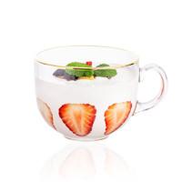 陶语瓷宣 玻璃早餐杯 470ml*2个