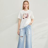 Amii 12060042 女士短袖T恤