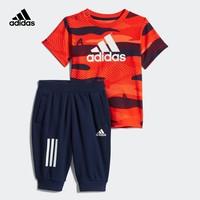 61预售:adidas 阿迪达斯 婴童训练短袖针织套装
