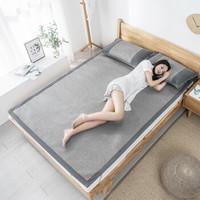 京东PLUS会员:京东京造 藤席三件套 凉席套装 床席 枕席 1.8m床 灰色