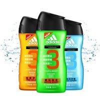 Adidas 阿迪达斯 男士沐浴露套装(按摩舒爽250ml+源动激活250ml+运动后舒缓250ml) *2件