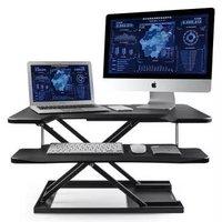 ECOLUS 宜客乐思 电脑办公双台面升降台 LS01BK