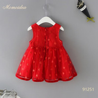 momoidea 宝宝红色连衣裙