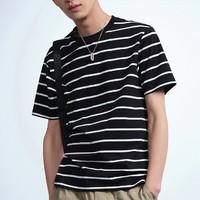 61预售: PEACEBIRD MEN 太平鸟 BWDAA2116 男士条纹T恤
