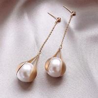 知尊 R151 珍珠流苏耳环 两对装