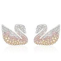61预售:SWAROVSKI 施华洛世奇 5215037 渐变色 Swan 天鹅耳钉
