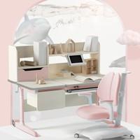 HbadaStudy time 黑白调 儿童学习桌 乐童木款+熊猫椅粉
