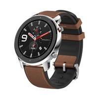 61预售:AMAZFIT 华米 GTR 智能手表 47mm 不锈钢版 / 铝合金版