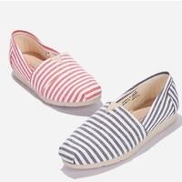 热风 H30W0550 女士条纹帆布鞋