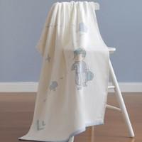 61预售:良良 新生婴儿浴巾棉柔吸水洗澡浴巾+口水方巾2条组合装