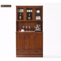 61预售:家逸 实木餐边柜 棕色