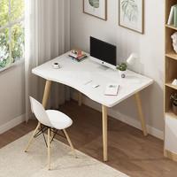 至白小屋 简易电脑桌 暖白 70*40*73cm