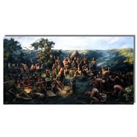 高端秀:《文明曙光》戴海燕|布面油画|488 x230 cm