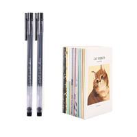 M&G 晨光 中性笔 2支装 送1个本子