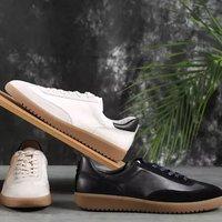 京东PLUS会员:J.ZAO 京东京造 头层牛皮休闲板鞋 +凑单品