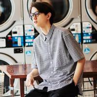 UNIQLO 优衣库 427388 男装 泡泡纱格子衬衫
