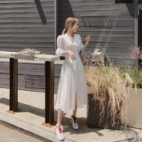邑莲优品 YL0000051 法式长款仙气白色连衣裙
