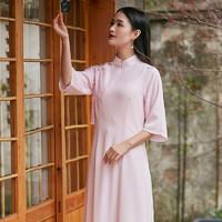 起念  L3002  中国风文艺复古旗袍
