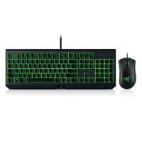 Razer 雷蛇 黑寡妇 键盘+蝰蛇游戏鼠标 绿背光机械键盘套装