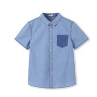 61预售:Balabala 巴拉巴拉 男童短袖牛仔衬衫