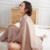 61预售: DAPU 大朴 棉麻褶皱毛巾被 浅棕 140*200cm