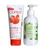 61预售:toofruit 多果肤法国进口有机儿童洗发沐浴套装
