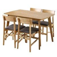 1日0点、61预告:KUKA 顾家家居 PT1571 餐桌椅组合 原木色 1.2米配一桌四椅