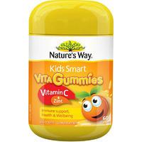 银联专享:Nature's Way 佳思敏 Smart 儿童维生素c+锌软糖 60粒