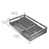 历史低价:HIGOLD 悍高 拉格斐系列 碗碟拉篮 800柜体单层