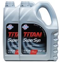 61预售:Fuchs 福斯 泰坦聚能 LONGLIFE 超级全合成 5W-40 SN级 4L*2瓶