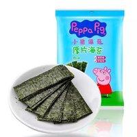 Peppa Pig 小猪佩奇 宝宝零食儿童即食紫菜原味厚片海苔片6g *13件
