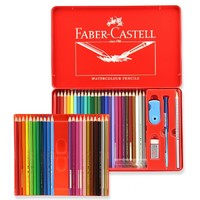 Faber-castell 辉柏嘉 115949 水溶性彩色铅笔 48色 红铁盒装